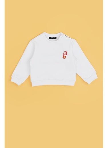 BG Baby Erkek Bebek Beyaz S-Shirt 20Fw0Bg1424 Beyaz